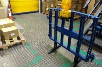 Baliza para vallas de obras