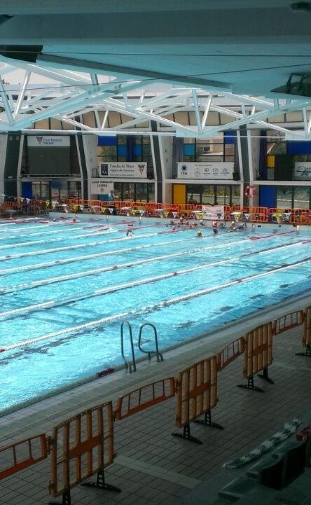 Vallas de plástico en piscina